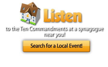 "Listen to the ""Ten Commandments"" this Sunday, June 12th, at a synogogue near you"