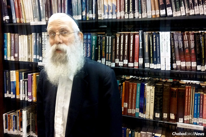 Among the copious duties of Rabbi Kasriel Kastel, who has served as program director of the Lubavitch Youth Organization for 49 years, is organizing teams of Megillah readers to visit Jewish inmates in prisons all around New York state. (Photo: Phreddy Wischusen)