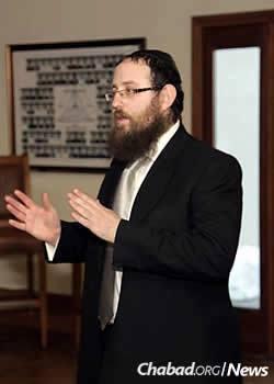 Rabbi Zvi Yaakov Zwiebel, co-director of Chabad's Librescu Jewish Student Center