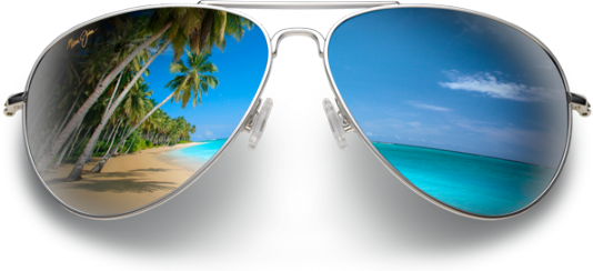 Sunglasses with beach reflection.png