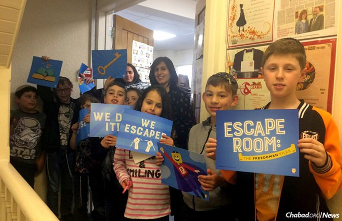 """Children will have the chance to partake in the """"Pesach Escape Room: The FreedoMan Files,"""" a 45-minute """"Exodus experience"""" launched by more 100 Chabad-Lubavitch emissaries worldwide. (Photo: CKids)"""