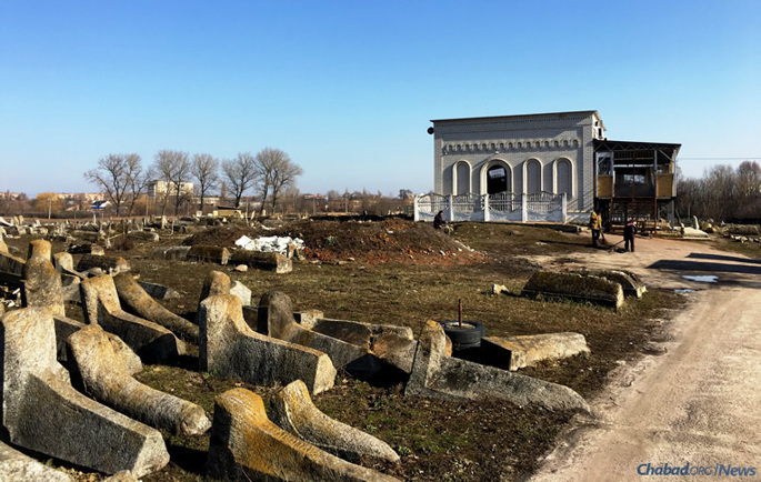 """The ohel, or resting place, of Rabbi Levi Yitzchak of Berdichev in western Ukraine. The great """"defender of the Jewish people,"""" he was an early Chassidic master who served as rabbi of Berdichev for nearly 25 years, passing away in 1809."""
