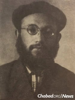 Yaakov Shatz headed the clandestine Tomchei Temimim yeshivah in Berdichev and later a branch in Poltava. He was arrested in Moscow in 1937 for taking part in an illegal prayer meeting, convicted and then executed on April 5, 1938. (Photo: Toldos Chabad BeRussia HaSovetis)