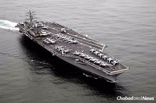 """The """"U.S.S. Nimitz,"""" commissioned in 1975 (Photo: Wikimedia Commons)"""