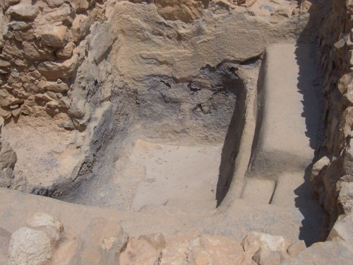 One of the ancient mikvaot discovered at Masada