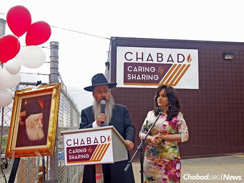 Rabbi Menachem and Rochel Matusof, who run the Chabad center