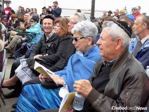 """""""It's history in the making,"""" said the rabbi to residents, guests and government leaders."""