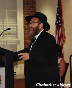 Rabbi Eli Backman, co-director of the Bais Menachem Chabad Student Jewish Center