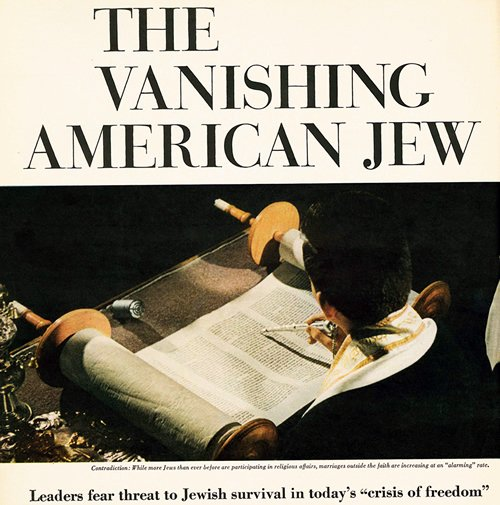 "A widely read May 5, 1964 cover story in ""Look"" magazine discussed the crises of intermarriage, a loss of Jewish identity and traditions, and other alarming issues in the U.S. Jewish community just two decades after the Holocaust."