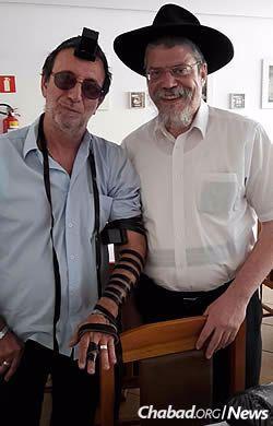 Com o Rabino Avraham Meir Berkes, sheliach no Rio de Janeiro