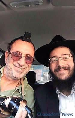 Com o Rabino Mendel Begun, emissário Chabad de 27 anos