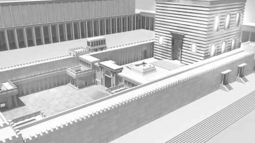 """בית המקדש לפי דעת הרמב""""ם. התמונה באדיבות והראנו בבניינו - הרב מנחם מקובר"""