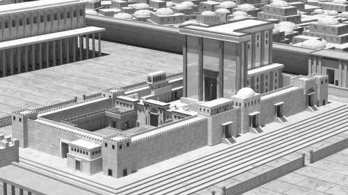 המקדש לפי הדיעות האחרות. התמונה באדיבות והראנו בבניינו - הרב מנחם מקובר