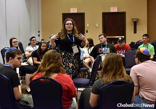 The teens and mentors also planned programs for the coming year. (Photo: Shmuel Amit)