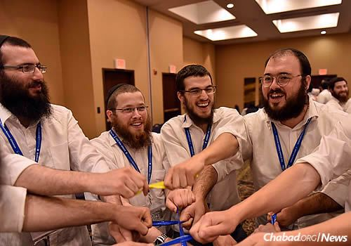 Some interesting challenges involved the CTeen leaders as well. (Photo: Shmuel Amit)