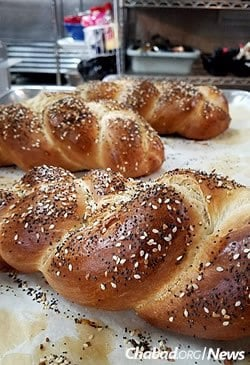 Fresh challah made at Friendship Bakery