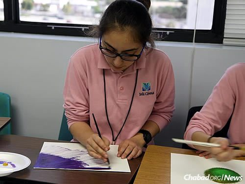 Girls from the Beis Chana High School, a division of the Lubavitch Educational Center in Miami, will be housed in a 48,681-square-foot building purchased earlier this year. (Photo: Lubavitch Educational Center)