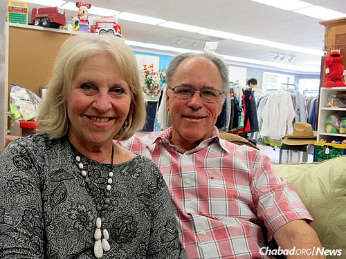 Caren and Charlie Gale, parents of employee Jonathan Gale (Photo: Howard Blas)