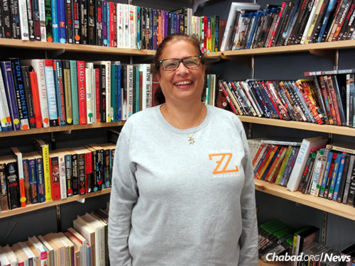 Community member and volunteer Lisa Shporer, whose 19-year-old son Zachary died of leukemia in 2011. The store is named in his memory. (Photo: Howard Blas)