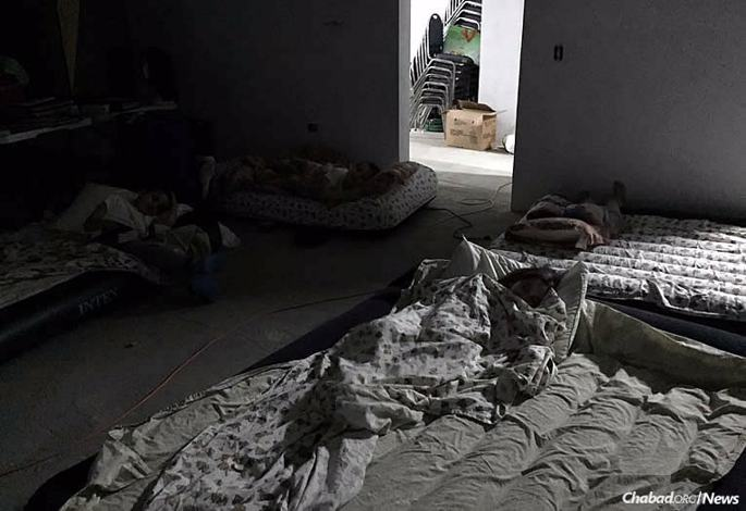 Rabbi Moishe and Sara Chanowitz, co-directors of Chabad-Lubavitch of St. Maarten/St.Martin, and their five children stayed safe in the mikvah area of their Chabad House while 185 mph winds brought on by Hurricane Irma wreaked havoc on the Caribbean island.
