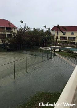 Flooding in hard-hit Key West.