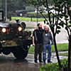 Two Chassidic Jews in an Old Army Truck Save Flood Victims