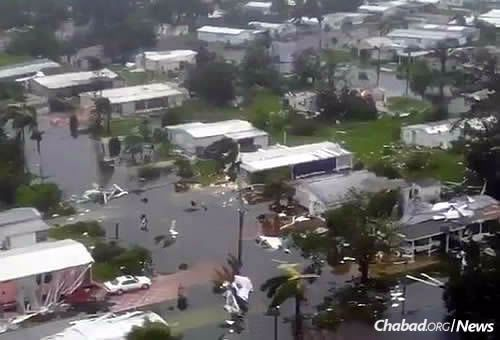 Naples, not originally in the storm's path, got walloped, and quickly filled with water.