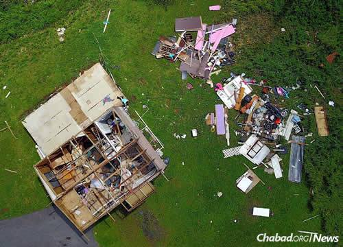 An aerial view of the kind of damage left in Maria's wake.
