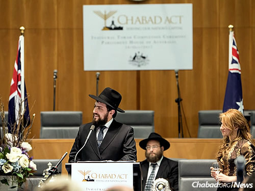 Rabbi Shmueli and Chasia Feldman, co-directors of Chabad ACT (Photo: Andrew Taylor)