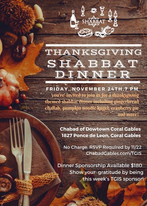Thanksgiving Shabbat