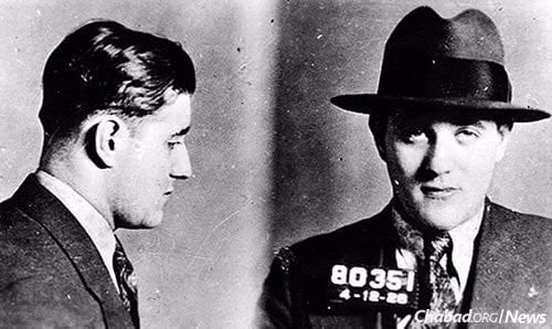 Police photos following one of Siegel's many arrests before he settled in Las Vegas.