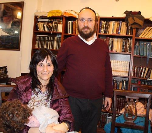 Rabbi Amichay and Mrs. Noah Rieber.