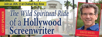 Guest Speaker David Weiss - The Wild Spiritual Ride of a Hollywood Screenwriter - Wed, January 17, 2018