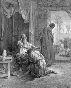 """""""Isaac Blessing Jacob"""" by Gustave Dore"""