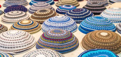 These kippahs are popular in Israel.