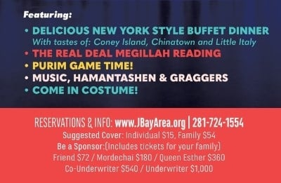 Purim In NY - Details