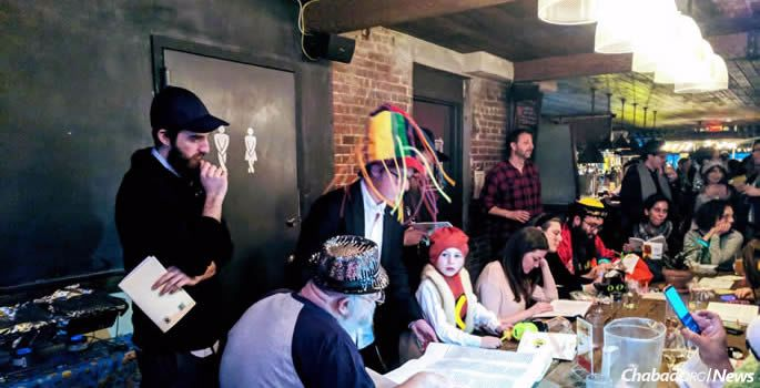 A Tech Tribe Purim event last week in New York.