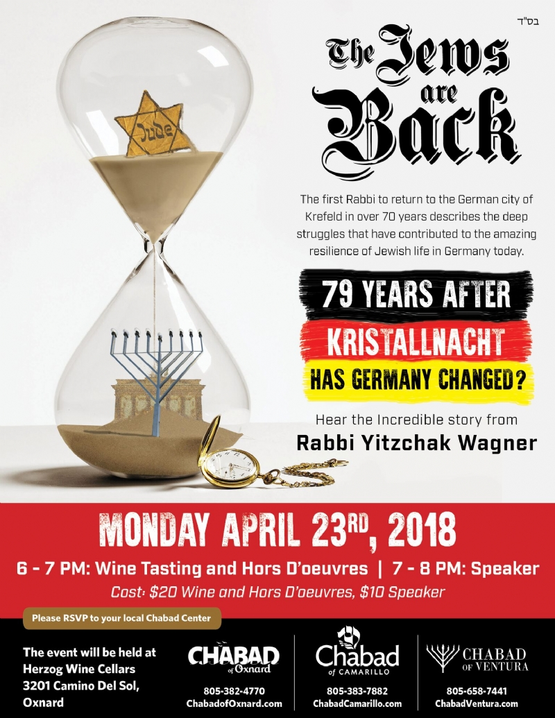 The Jews Are Back - an Evening with Germany's Youngest Native-Born Rabbi