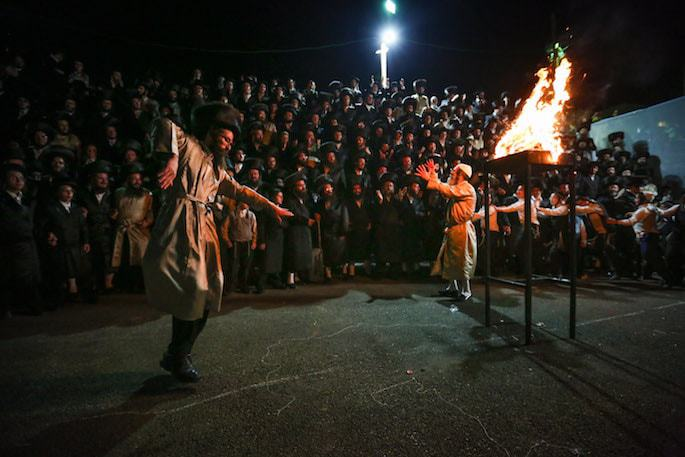 Dancing in Meron on Lag BaOmer. (Photo: David Cohen/Flash 90)