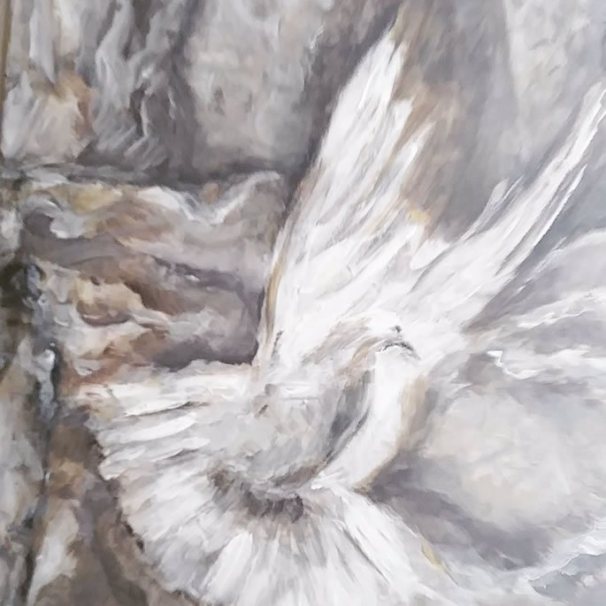 """Of Comely Appearance: """"My dove, in the clefts of the rock... your voice is pleasant and your appearance is comely."""" (Song of Songs chapter 2)"""