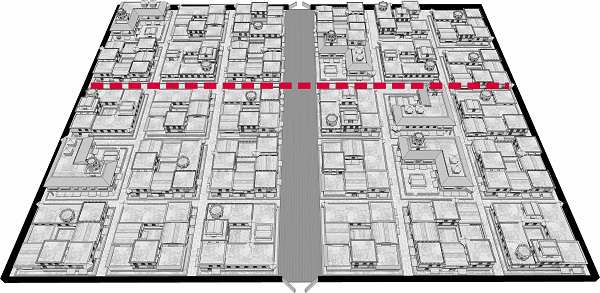 Fig. 105: A city divided across its width