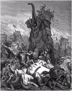 """""""The Death of Elazar"""" by Gustave Dore"""