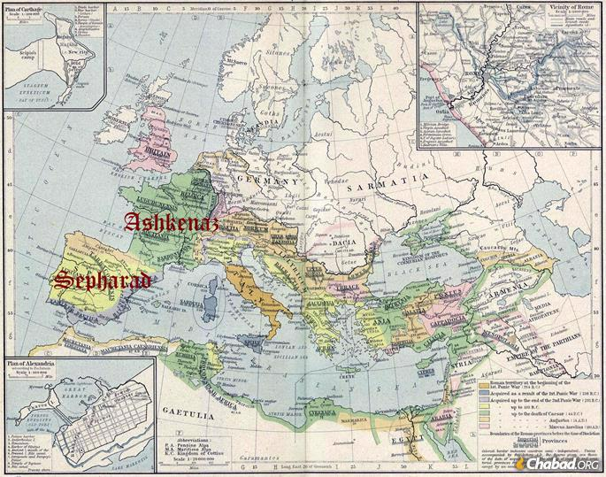 After the decline of the Jewish communities in the Holy Land and Babylon, Jews found new life in Europe, where they blossomed into Ashkenaz and Sepharad.