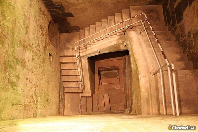 The ancient staircase leading down to the mikvah in Cologne, site of early Ashkenazi settlement.