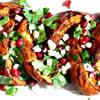 Moroccan Roasted Acorn Squash with Feta, Parsley & Pomegranate