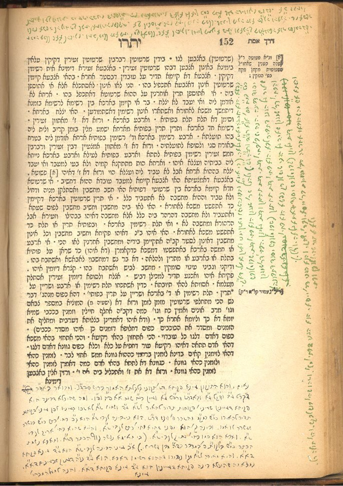 A page of Rabbi Levi Yitzchak's notes on Zohar, written in exile with ink prepared by Rebbetzin Chana. Notice the various colors of this homemade ink.