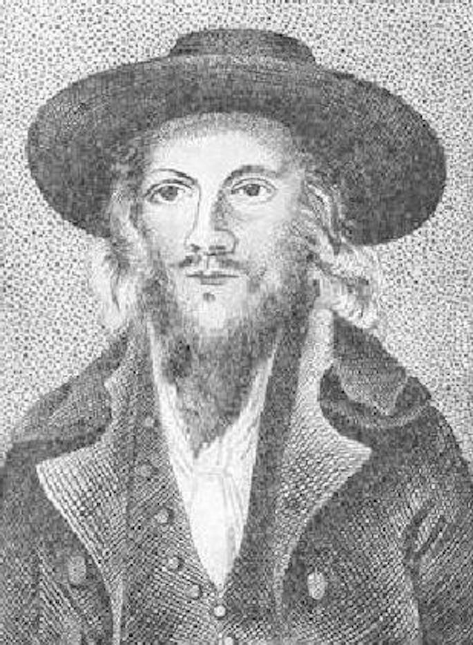 Lord George Gordon after his conversion to Judaism (Jewish Encyclopedia).