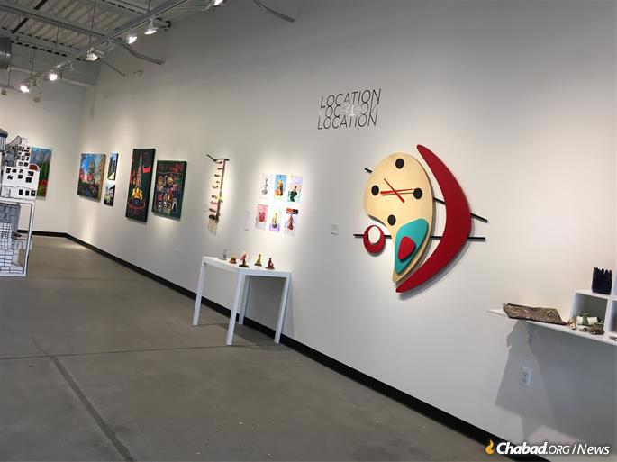 Works on display at the Dresner Soul Studio, a unique vocational training program, studio and gallery where artists with disablilites work daily from 10 a.m. to 3 p.m. Their work is then sold in the gallery.