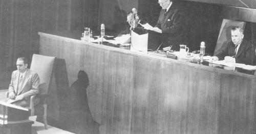 Oswaldo Aranha preside a 2º Assembleia Geral das Nações Unidas, em Nova York- Arquivo