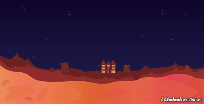 A Martian day is 24 hours and 30 minutes, and a Martian year is approximately 600 days. This affects the schedule of the Jewish week and year as well. If one were to keep Shabbat every seven Martian days, over the course of several years, a few would be missed. (Credit: Gilad Freed/Tech Tribe)
